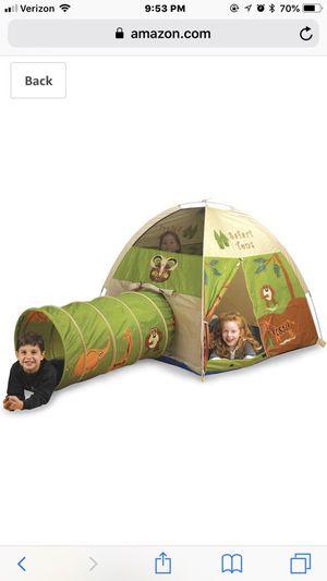 Pacific Play Tents 20435 Kids Safari Fun Dome Tent Crawl Tunnel Combo Indoor / Outdoor Fun for Sale in Bristow, VA