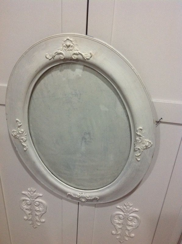 Antique Oval Wooden Oval Ornate Frame With Domed Glass For Sale In