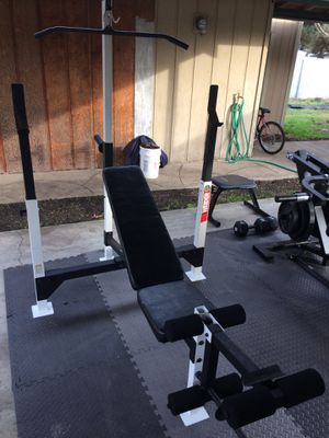 Weider Pro Adjustable Bench Press With Leg Curl Extension