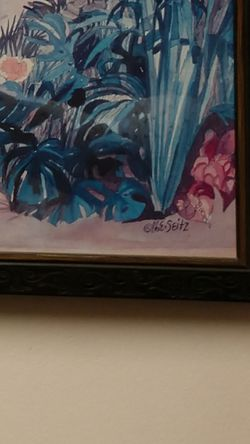 Gorgeous framed art that is signed Thumbnail