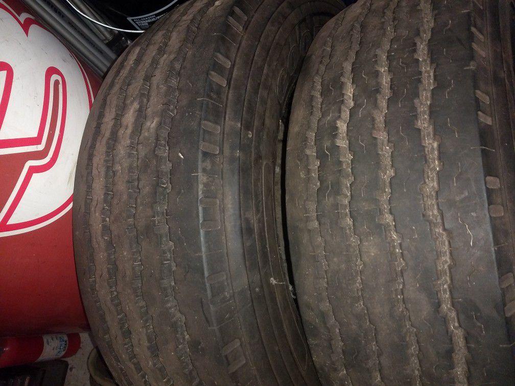 Truck tires. 245/70/19.5 G159
