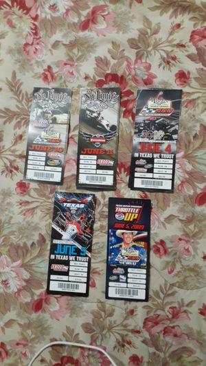 Photo Texas Motor Speedway racing ticket stubs