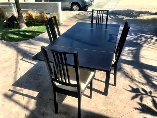 Ikea Bjursta Extendable Table With Bjorn Chairs
