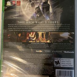 Xbox One Dishonored 2 Thumbnail