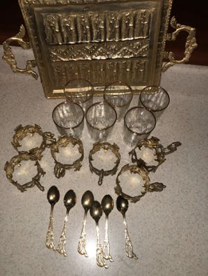 Gold Tea Set, everything included for Sale in Washington, DC
