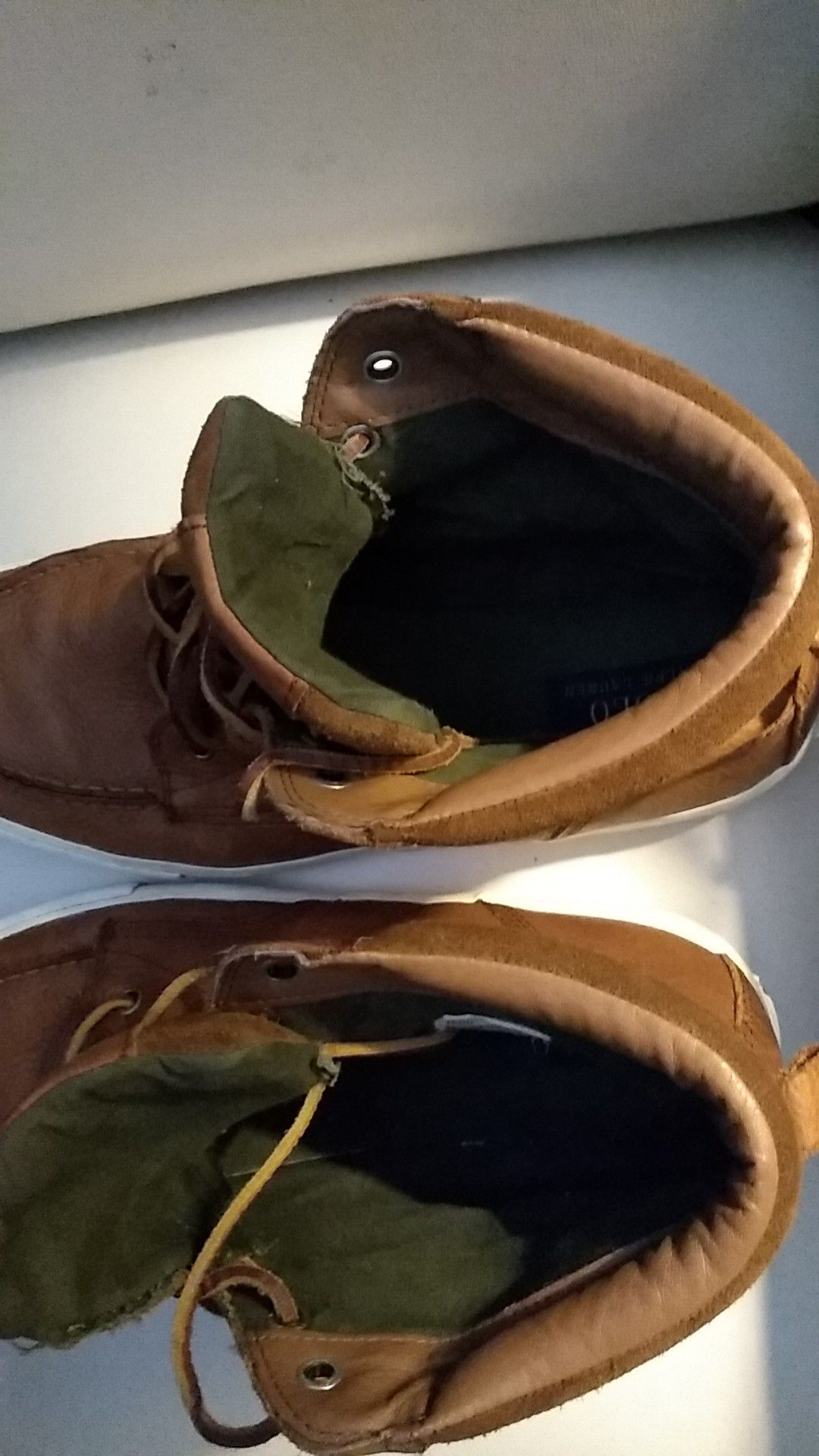 Polo leather high top men's shoes. Size 11