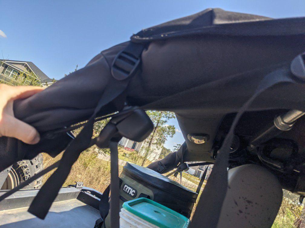 Black Bimini Top for Jeep Wrangler 4dr