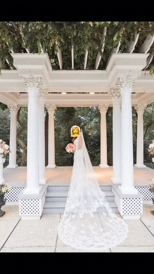Cathedral Veil with Sequined Lace Appliques-Wedding for Sale in Rockville, MD