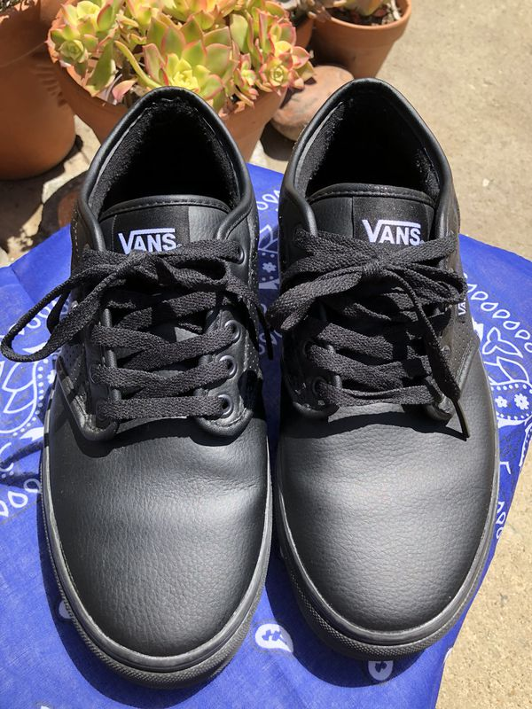 955ddf6b6397e2 Vans Atwood Leather Black for Sale in Redondo Beach
