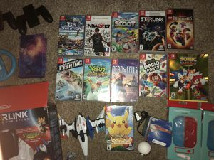 11 Nintendo switch games with new Console & accessories for Sale in North Fort Myers, FL
