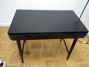 Solid black desk for Sale in Arlington, VA