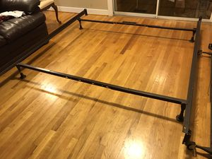 Queen size metal bed frame, mounting to headboard and footboard for Sale in Richmond, VA
