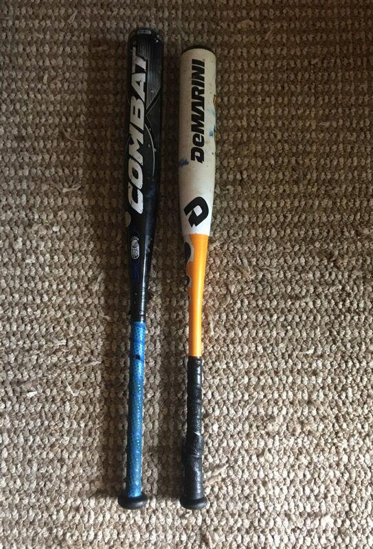 2 baseball bats  Combat portent G3 SL 32