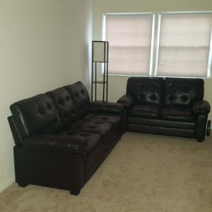 Brand New Black Faux Leather Sofa + Love Seat for Sale in Silver Spring, MD