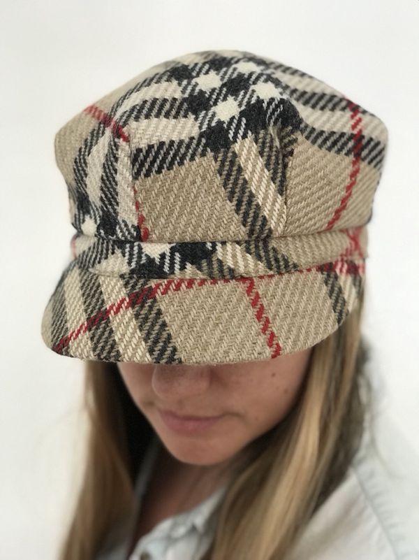 Burberry Nova Check Wool Newsboy Hat for Sale in Newport Beach d2b85ead385