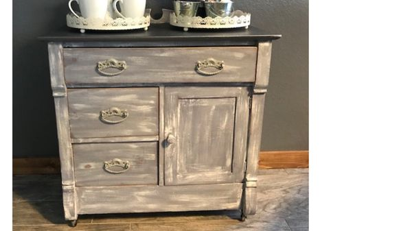 - Blue/Gray Antique Cabinet (Antiques) In Norco, CA - OfferUp