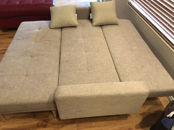 Linen Fulton With Footrest Sofa Bed Furniture In Las Vegas Nv