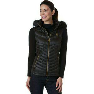 Michael Kors Black Faux Fur Trimmed Hooded Vest Sz: S for Sale in Fort Meade, MD