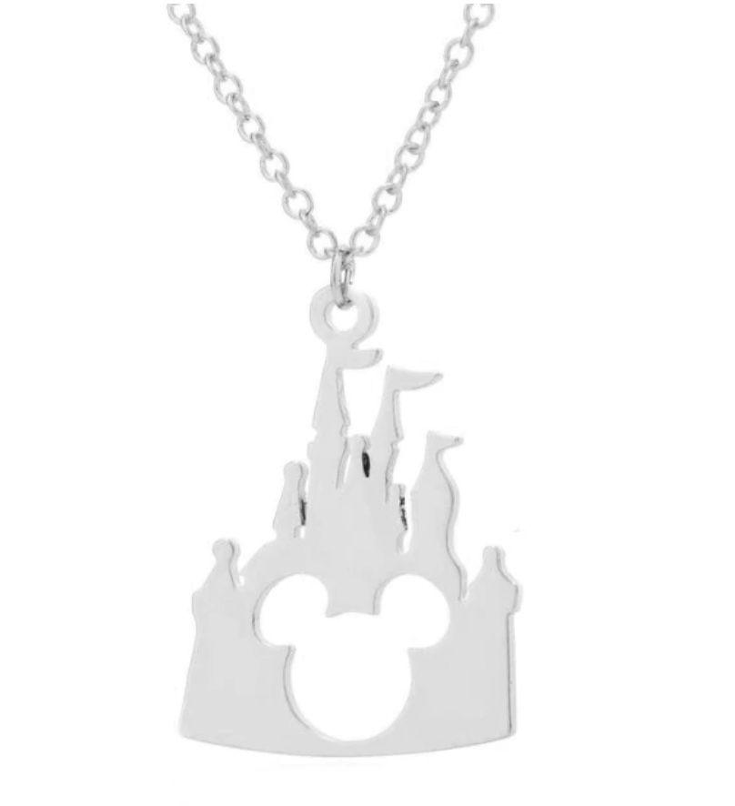 Necklace Disney castle pendant