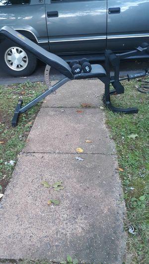 Weight bench+attachment+dumbbells for Sale in Manassas, VA