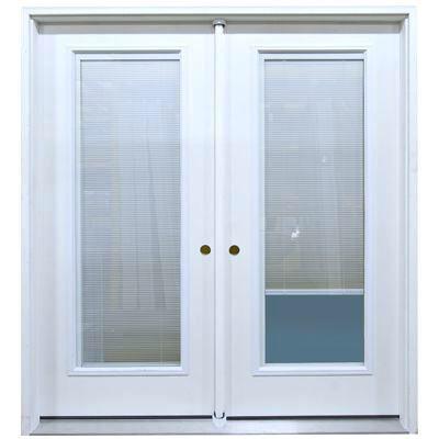 Patio Door Fiberglass With Miniblind Between Glass For