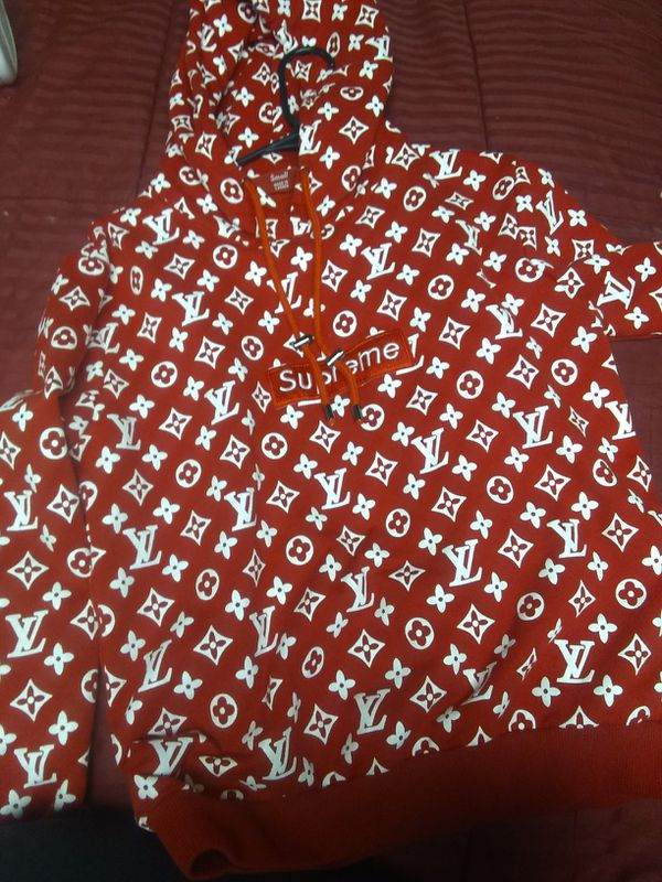 Supreme Louis Vuitton Red Box Logo Hoodie for Sale in Westminster, CO -  OfferUp