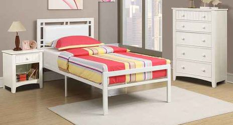 BRAND NEW TWIN SIZE BED FRAME SPECIAL ONLY ADD MATTRESS AND FURNITURE M Thumbnail