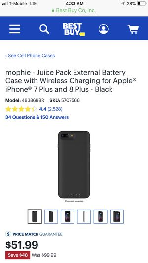 reputable site edb6f 43afa Brand new iPhone 8 plus Mophie Charging case for Sale in Austin, TX -  OfferUp