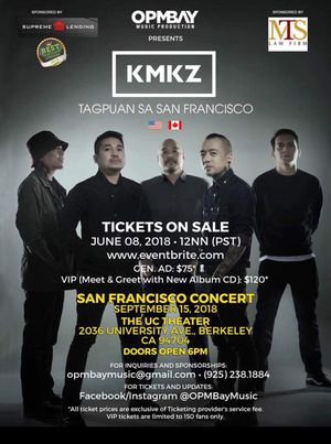 Kamikazee band ticket available for Sale in San Francisco, CA