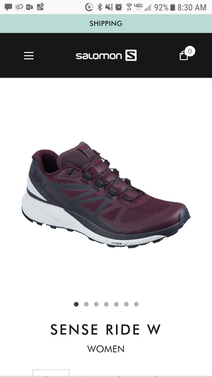 Salomon sense ride running shoes 7.5womens for Sale in Seattle, WA