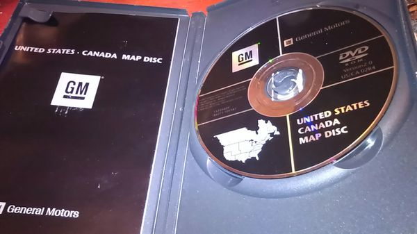 GM United States & Canada map Disk for Sale in Lowell, MA - OfferUp