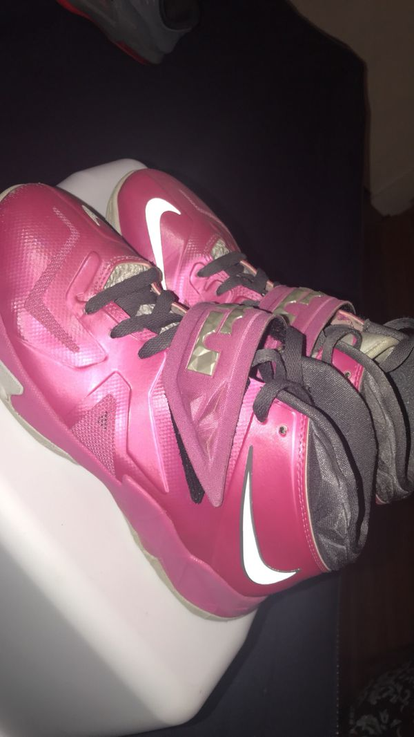 official photos f196c f069d Pink/Gray Lebron James Basketball Shoes for Sale in Greenville, NC - OfferUp