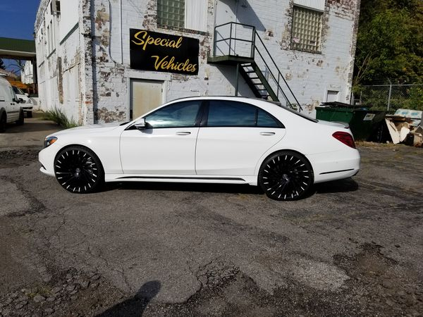 2015 Mercedes Benz S550 on 24s Lexani Wraith Wheels for ...