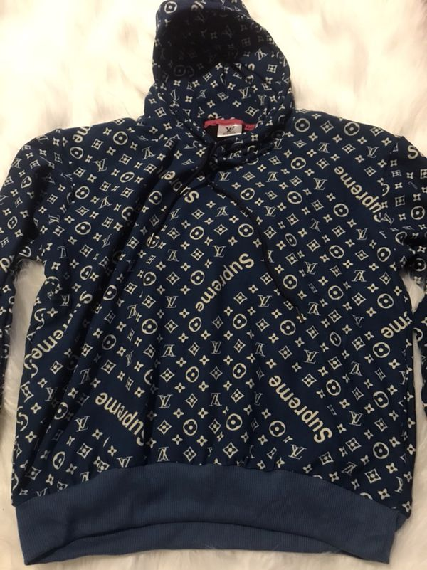 Louis Vuitton Supreme Pattern Hoodie And Pant Blue Size L for Sale in  Bellflower, CA - OfferUp