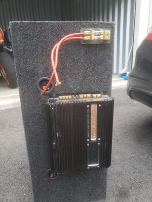 Photo 2 12in Power Acoustik Subwoofers with Amp and fuse holder