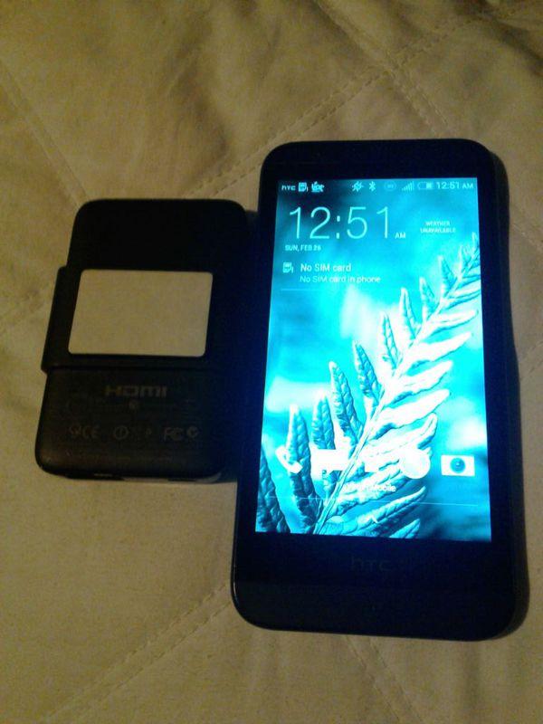 Virgin mobile HTC 510 Desire (navy blue) & HTC HDMI media link for Sale in  San Jose, CA - OfferUp