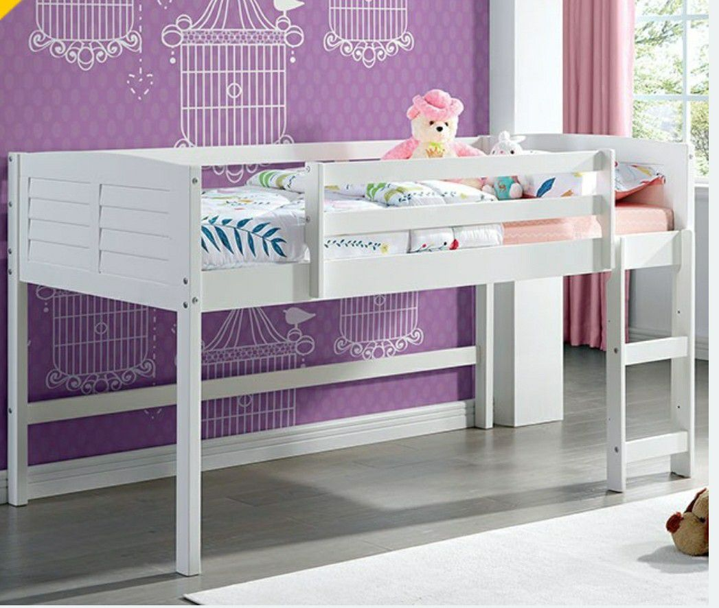 Twin loft bed mattress not included