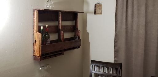 Hand made wall mount wine rack Thumbnail