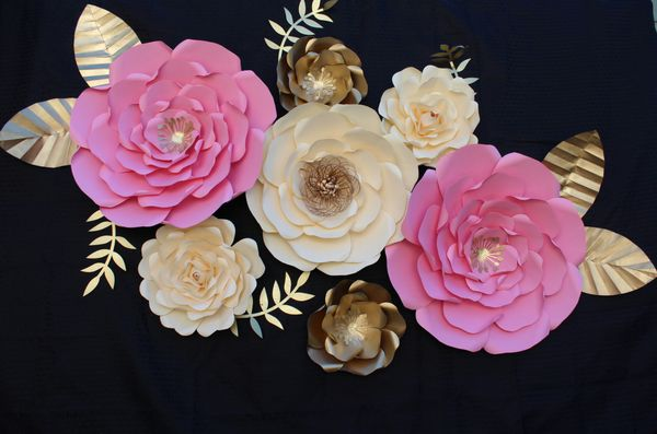 Paper Flowers Backdrop Flores De Papel Fiesta Babyshower For