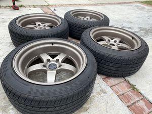 Photo Ambit r12 rims wheels 5x114.3 cosmis advan te37 varrstoen str esr aodhan 5x114 350z g35 370z g37 s2000 Honda Acura Toyota