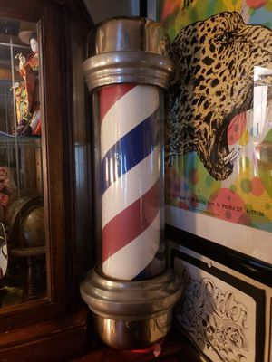Rare 1940s Rotating Backlit Barber Pole Works!!! for Sale in Seattle, WA