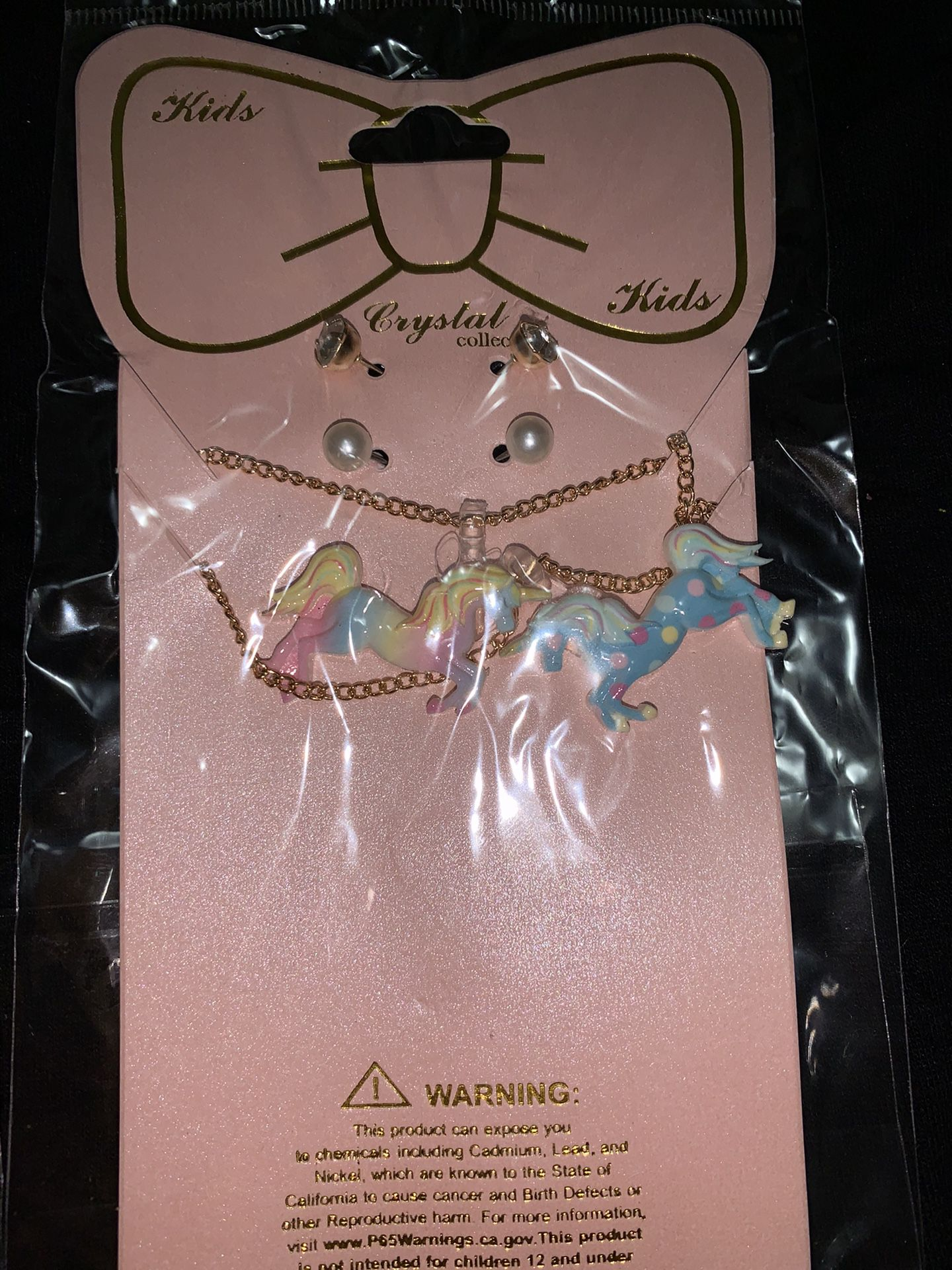 Cute unicorn necklace sets perfect for stocking stuffers