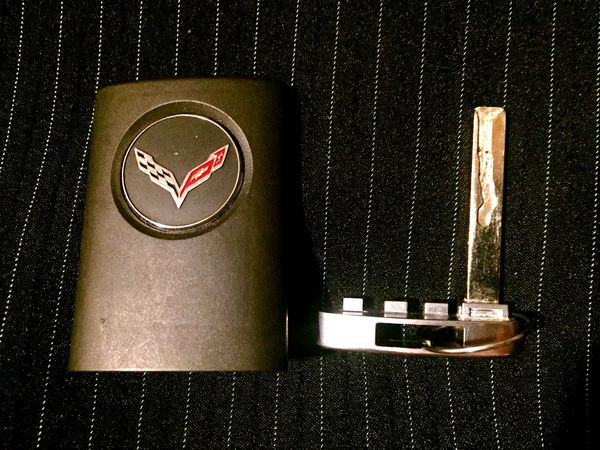 Factory OEM Corvette Key Fob w/ Internal Key