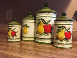 Antique Glazed Porcelain kitchen storage jars for Sale in Midlothian, VA