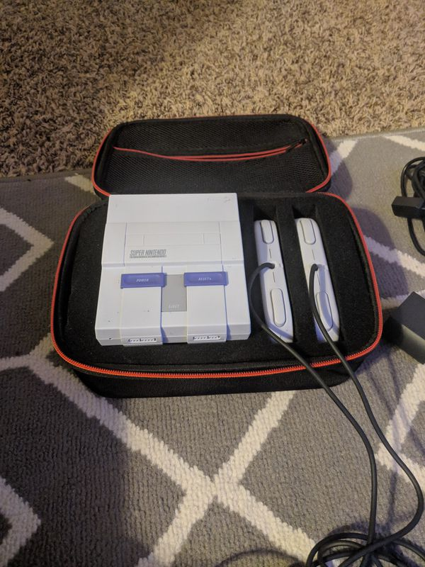 SNES CLASSIC MINI with carry case and box hacked modded for Sale in Long  Beach, CA - OfferUp