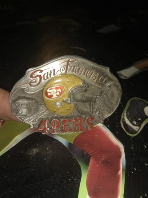49er Collectable Metal Belt Buckle for Sale in Tacoma, WA