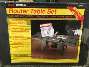 Router Table Set for Sale in Oakton, VA