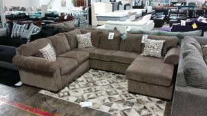 LARGE SECTIONAL SOFA WITH ACCENT PILLOWS for Sale in Dallas, TX ...