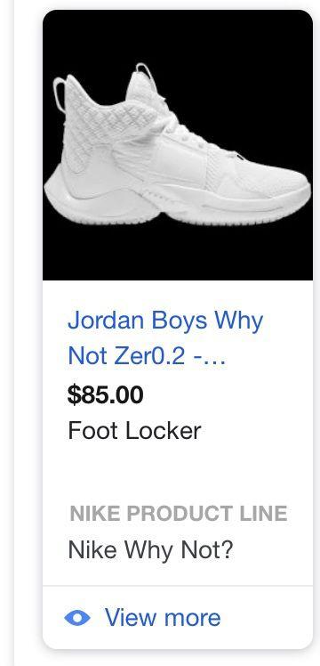 All white Jordan why not zero.2