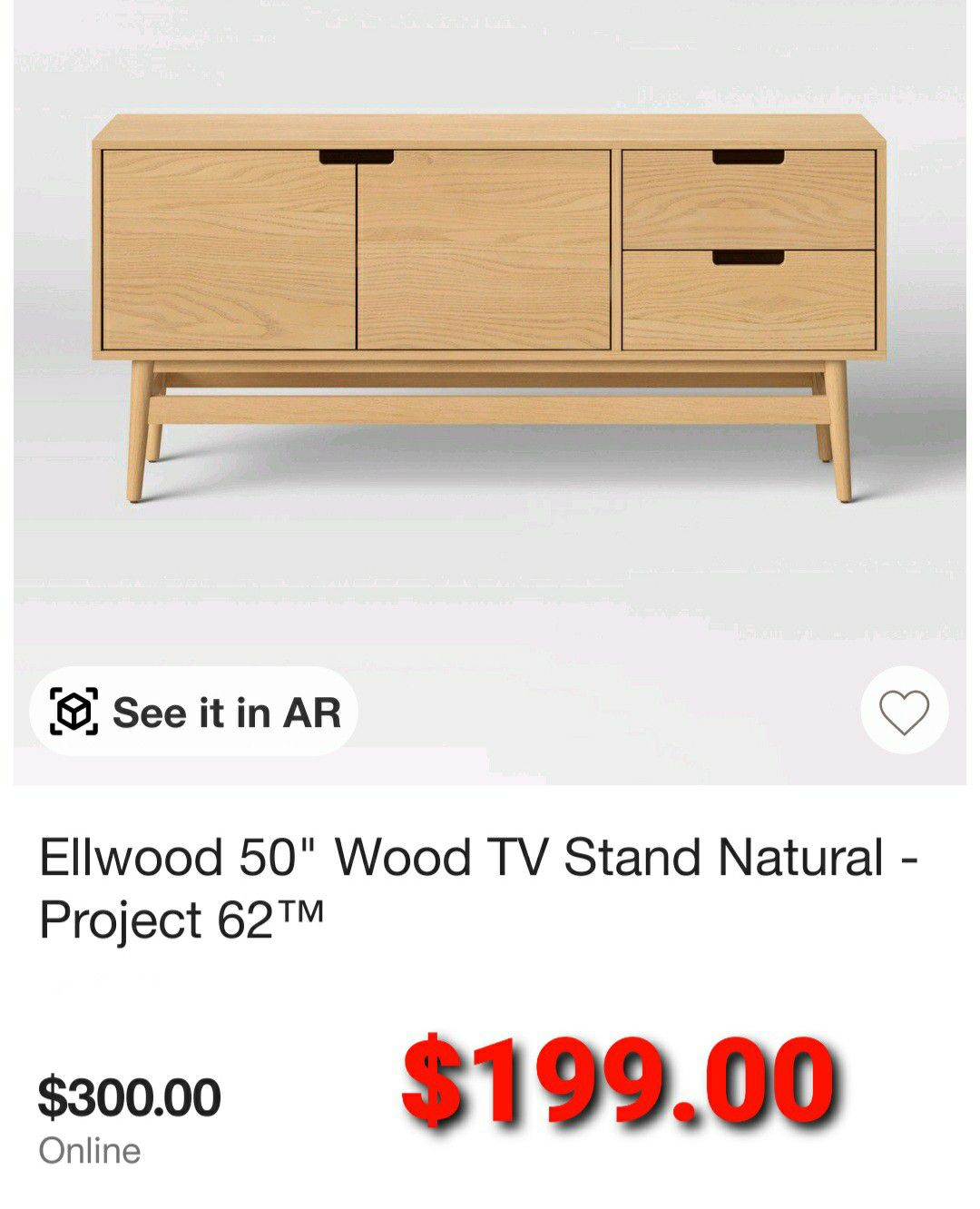 """50"""" Wood TV Stand"""
